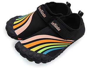 BomKinta Kids Summer Outdoor Water Shoes Barefoot Boys Girls Quick Drying Athletic Shoes for Beach Swim Pool or Water Sport Indoor Comfortable House Walking Sneakers Colorful Size 1 M US Big Kid