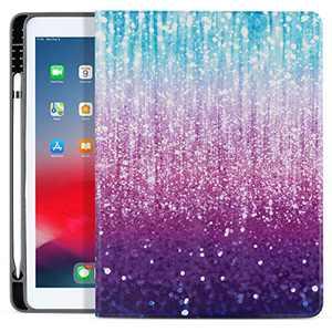 MARINAVIDA iPad 10.2&10.5 Case, iPad 8th / 7th Gen 10.2 Case ,iPad Air 3rd 10.5 Case,iPad Pro 10.5 Case,Full Protective Smart Leather Case for iPad 10.2/10.5 inch with Pencil Holder Dark Blue Purple