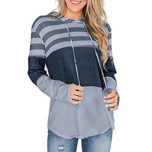 TOPIA STAR Women's Tunic Shirts Plus Size Long Sleeve Tops Fashion Pullover Sweatshirt Casual Blosues Long Shirt (Gray, M)