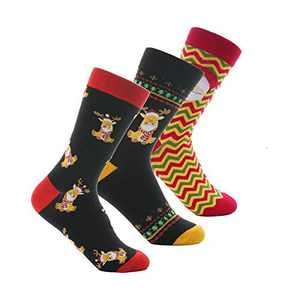 3 PairsChristmas Holiday Socks For Men Women Men's Women's Festive Comfy Crew Socks Youth Boys Girls Ladies Funny Novelty Unisex Xmas Sox