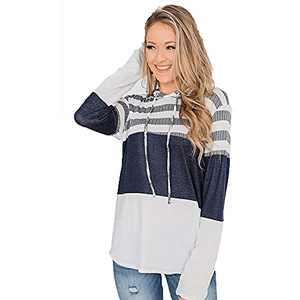 TOPIA STAR 2021 Womens Crewneck Sweatshirts Color Block Short Sleeve T-Shirt Tunic Tops (White - A, S, s)
