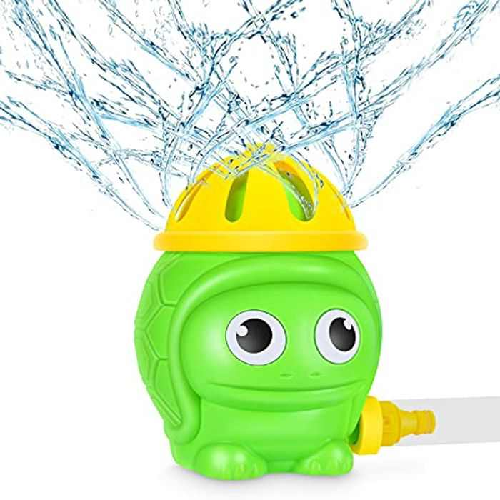 Magicfun Sprinkler Water Toy, Splash Play Toy for Kids,Rotary Turtle Sprinkler Summer Outdoor Garden Water Toys, Water Sprinkler For Lawn , Sprays Garden Toy for Boys Girls