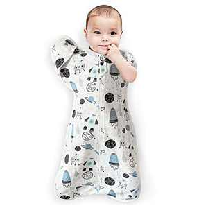 Baby Swaddle Cute Pattern, Soft Cotton, Swaddling Sack Sleeping Bag for Baby Sleep with Arms Up Position and Self-Soothe, Anti-Startle Toddler Sleep Sacks for Newborn Babies 0-3 Months/5-10 lbs