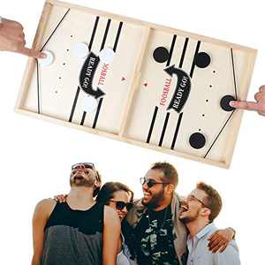 Large Size - Sling Puck Game, Fast Sling Puck Game, Hottest Table Games, Foosball Winner Board Game, Table Hockey Game