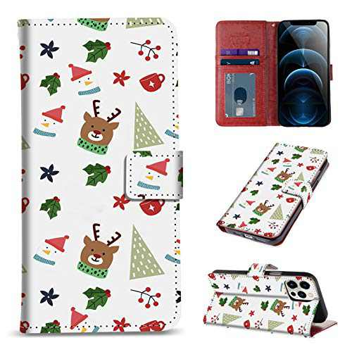 OOK Design for iPhone 12 Case and for iPhone 12 Pro Wallet Case Flip with Card Holder Magnetic Closure,Protective PU Leather Cover with Kickstand for iPhone 12/PRO 6.1 inches Stocking Stuffers White