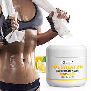 RNEKFA Slimming Hot Cream Natural Sweat Workout Enhancer,Hot Sweat Gel Fat Burning Cream for Abdomen, Thighs, Legs, Arms for Women and Men 8.1 Oz (230g)