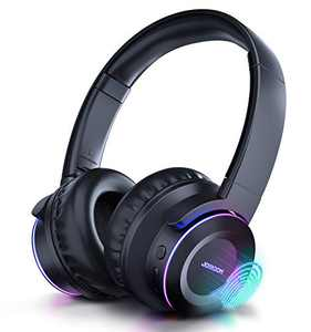 Elvana Active Noise Cancelling Headphone, BT5.0 Headphones with Mic 3.5mm Wired/Wireless Over Ear Headphones, Foldable Headset with Touch Contral/40H Playtime for Travel, Home, Office, TF Support