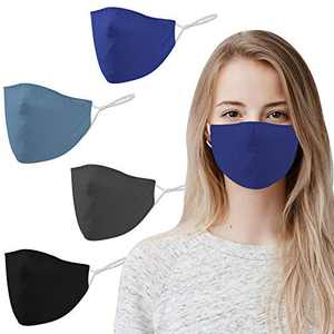 Vadeture Face Mask, Reusable Face Mask, Washable Face Mask, Adults Facemask with Multiple Layers, Breathable Face Cover Protection with Adjustable Elastic Earloop for Men Women Daily Use