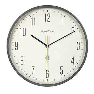 LAELS Wall Clock Silent Clock, Round Wall Clock, 12-inch Wall Clock Quality scanning Movement Battery-Powered Decoration Home /Office /Classroom /School Clock (Blue)