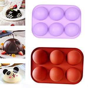 DHQH 2 Pcs Semi Sphere Cake Mold,Baking Mold for Making Chocolate CAKE, Cake Molds for Cake Baking(1123)…