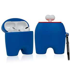 Besoar for Airpod Pro/3 Case, Cute 3D Cartoon Kawaii Character PVC for Airpods Pro Cover Design Designer, Cool Fun Funny Fashion Unique Cases for Girls Kids Women Boys Air pods 3 (Blue Bone)