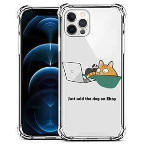 ZIYE Compatible with iPhone 12 and for iPhone 12 Pro Clear Case with Design Cat Flexible TPU Shockproof Protective Case Cute Funny Case for iPhone 12 and for iPhone 12 Pro 6.1 Inch 2020 Cyber Cat