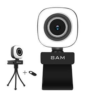 Computer Camera with Privacy Cover, Auto Focus USB Livestreams Webcam for Video Conference Gaming On-line Teaching Studying