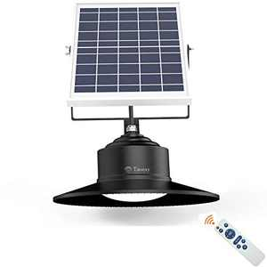 Taoesy Retro Solar Pendant Light with Remote Control,Upgraded 3-Color in 1 Porch Light Dusk to Dawn,Multi Installations Suitable for Barn Storage Room Balcony Chicken Coop