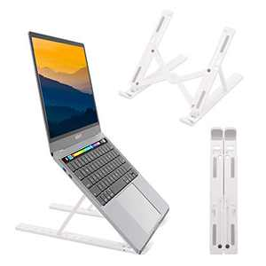 "Laptop Stand Foldable, Laptop Holder Riser Computer Stand, 10 Angles Adjustable Desktop Holder, Portable Notebook Stand Compatible with MacBook Dell More 10-17"" Laptops & Tablet"