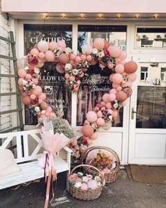 Eanjia Rose Balloon Garland Kit Mauve Pink Balloons 185 pcs for Dusty Balloons Garland Wedding Bachelorette Mauve Birthday Decorations Anniversary Party Decorations Backdrop Decor