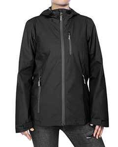 33,000ft Women's Rain Jacket Lightweight Waterproof Raincoat with Hood Cycling Bike Packable Jacket Windbreaker
