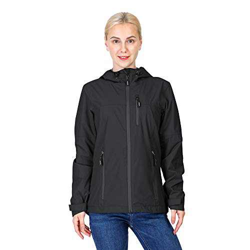 33,000ft Women's Rain Jacket Lightweight Waterproof Raincoat with Hood Cycling Bike Packable Jacket Windbreaker