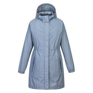 33,000ft Womens Rain Jackets Lightweight Active Outdoor Trench Raincoat with Hood Packable Waterproof Windbreaker