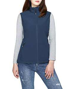 33,000ft Women's Running Vest Fleece Lined Zip Up Windproof Lightweight Softshell Vests Outerwear for Golf Hiking Sports