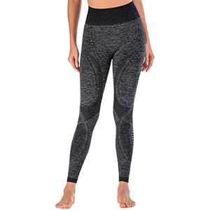 Helisopus Women's High Waisted Yoga Pants Soft Seamless Athletic Leggings Tummy Control Workout Leggings Running Tights
