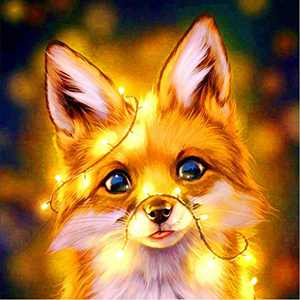 Animal Diamond Painting Kits for Adults Kids, 5d Diamonds Art with Tools Accessories, Bright Baby Wolf Paintings DIY Arts Dotz Craft for Home Décor, Ideal Gift for Family or Self Use