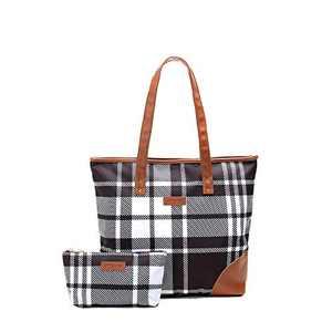 Jadyn B Special-Edition Liliana Women's Tote Bag (Plaid)