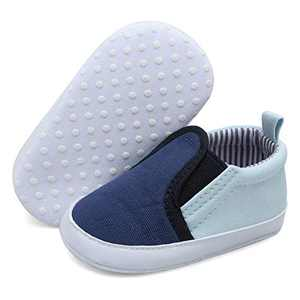 JOINFREE Baby Sneakers Shoes for Girls Boys Toddler Breathable Walking Shoes for Infant Blue 12-18 Months