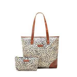 Jadyn B Special-Edition Liliana Women's Tote Bag (Cheetah Spot)