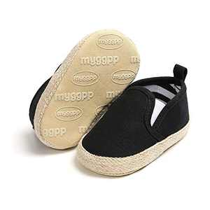JOINFREE Baby Boys Girls Soft Sole Moccasins Slip on Infant Toddler Shoes Sneaker Black 6-12 Months