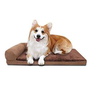 GAPZER Dog Bed, Orthopedic Foam pet Sofa for Correct Sleep with Removable Cover and Water-Resistant Liner