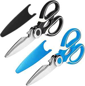 Kitchen Shears, 2-Pack Premium Heavy Duty Shears Ultra Sharp Stainless Steel Multi-function Kitchen Scissors for Chicken/Poultry/Fish/Meat/Vegetables/Herbs/BBQ