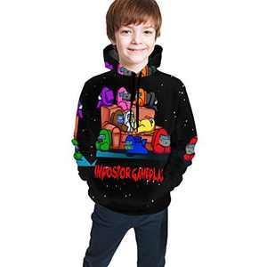A-Mong Us Game Teen Hooded Sweatshirt Casual Cartoon Hoodie For Kids Boys Girls,7-8 Years