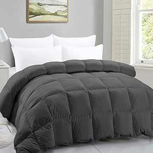 FASO King Comforter - Gray Feather Filling -All Season Duvet Insert or Stand-Alone – 90×106 Inch