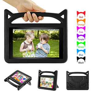 Case Cover for All-New 10 Tablet(9th/7th/5th Generation,2019/2017/2015 Release)-Dinines Lightweight Shockproof Case with Handle Stand for 10.1 Inch Kids Edition Tablet,Black