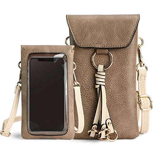 Travel Inspira Small Crossbody Purse with Strap, Lightweight Cellphone Purse with Touch Screen Travel Designer Wallet