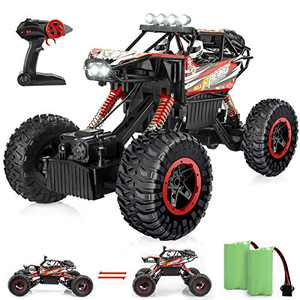 BananMelonBM RC Cars Remote Control Car, 1:12 4WD Off Road Rc Car with LED Headlight and Lift Car Body, 2.4GHZ All Terrains 4x4 Rc Monster Truck with 2 Batteries for Boys and Girls