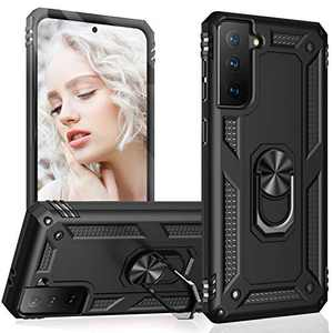 for Samsung Galaxy S21 Plus 5G Case Kickstand Heavy Duty Magnetic Shockproof Galaxy S21 Plus Phone Case with 360 ° Ring Stand Protective Cover Compatible with Samsung S21 Plus Case for Women