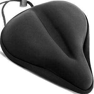 KINTTO Bike Seat Cover Cushion - Bicycle Saddle Gel Padded - Soft Foam Comfort Women Man Goes Indoor Outdoor Cycling on Stationary Mountain Spinning Bikes