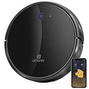 amarey A800Pro Robot Vacuum Cleaner, WiFi Connected Robotic Vacuum with APP Control, Mappping & Navigation, No-go Zones, 2500Pa Suction Power, Ideal for Hard Floor, Carpet, Pet Hair Cleaning