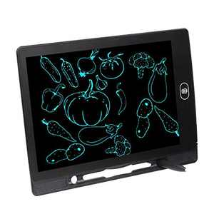 LCD Writing Tablet Drawing Pad Gift Toys for 2 3 4 5 6-16 Year Old Boys, Girls, Toddler, Kids, Adults, Deaf-Mute, Doodle & Scribbler Dry Erase Drawing Board, Highlighted LCD471-8.5 in Black