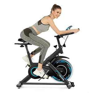 SIMPFREE Exercise Bike Stationary, Indoor Cycling Stationary Bike - 49Lbs Cycling Bike Heart Rate Monitor & Tablet Holder and LCD Monitor for Home Workout