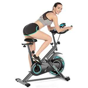 SIMPFREE 49Lbs Exercise Bike, Indoor Cycling Stationary Bike - Cycling Bike Heart Rate Monitor & Tablet Holder and LCD Monitor for Home Workout