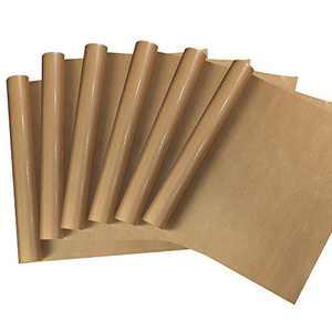 "MECOLOUR 6 Pack PTFE Teflon Sheet for Heat Press Transfer Sheet Non Stick 16 X 20"" 0.13mm Heat Transfer Paper Reusable Heat Resistant Craft Mat Baking Sheets Oven Liner"