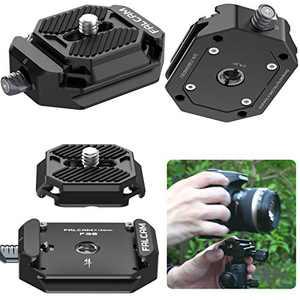 Camera Quick Release Plate, FALCAM F38 Quick Release System QR Plate Camera Tripod Mount Adapter for Canon/Sony Cameras/Zhiyun/Feiyu/DJI Switch Between Stablizer/Tripod/Monopod/Slider/