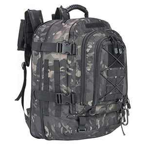 Greencity 3 Day Assault Rucksack Military Daypack Hiking School Daypack Tactical Backpack(Black Multicam)