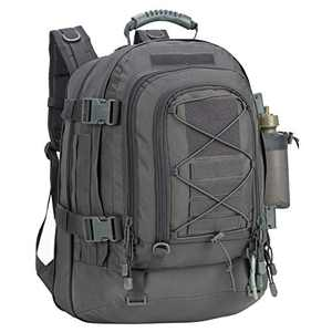 Greencity 3 Day Assault Rucksack Military Daypack Hiking School Daypack Tactical Backpack(Grey)