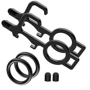 Idakekiy Anti Touch Door Opener Tool EDC Keychain Tool Key Ring include Easy to Carry