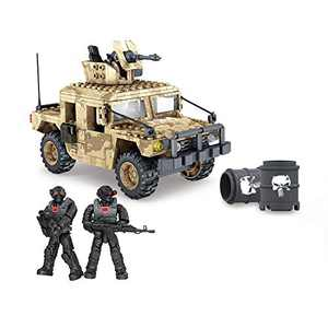 YEIBOBO ! Special Forces Mini Military Action Figure with Weapons and Accessories (Desert Hummer ZB-001)