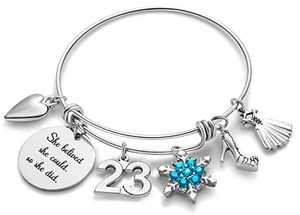 Doitory 23th Birthday Gifts for Women Charm Bracelets for Women Teen Girl Gifts for Friends Female Jewelry for Women